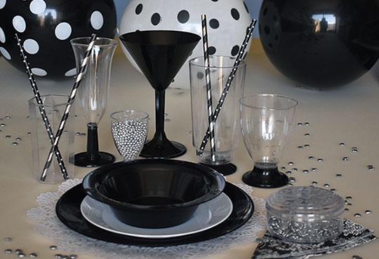En cristal y negro