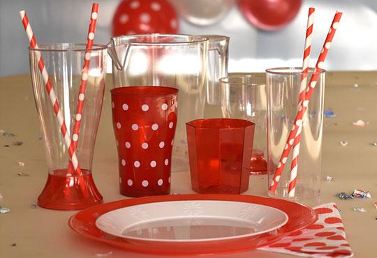 En rojo y cristal