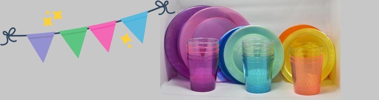 Cónicos, Platos y Bowls de colores