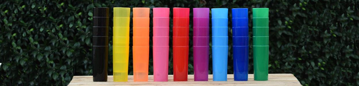 Vaso Casino PP en colores